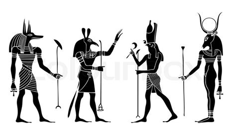 egyptian gods and goddess anubis seth hathor horus