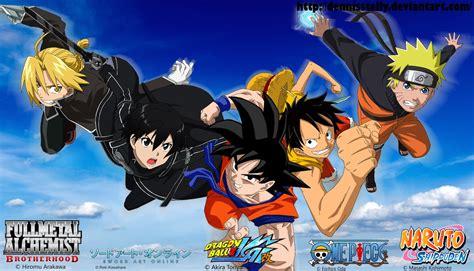 wallpaper anime crossover anime crossover by dennisstelly on deviantart