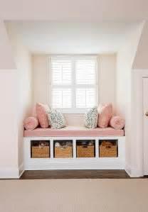 built in window seat pink window seat design ideas