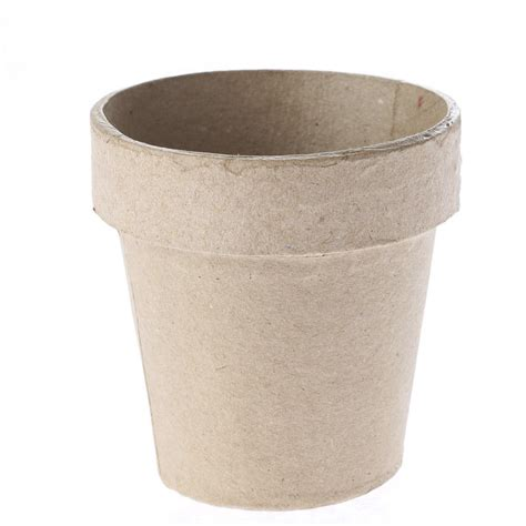 Paper Plant Pots - paper mache flower pot paper mache basic craft