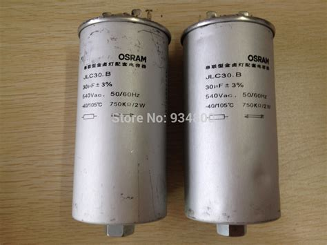 capacitor supplies current to bulb aliexpress buy 5pcs lot capacitor jlc30 b for osram 1000w metal halide l starting