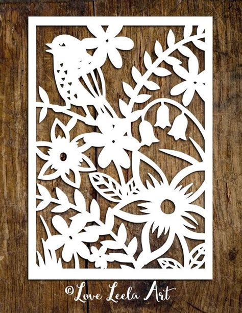 paper cutting templates personal use papercutting template flower garden by