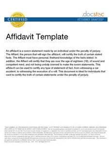 Affidavit Template Word by Best Photos Of Sle Affidavit Statement General