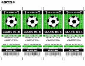 soccer birthday ticket invitation party printable