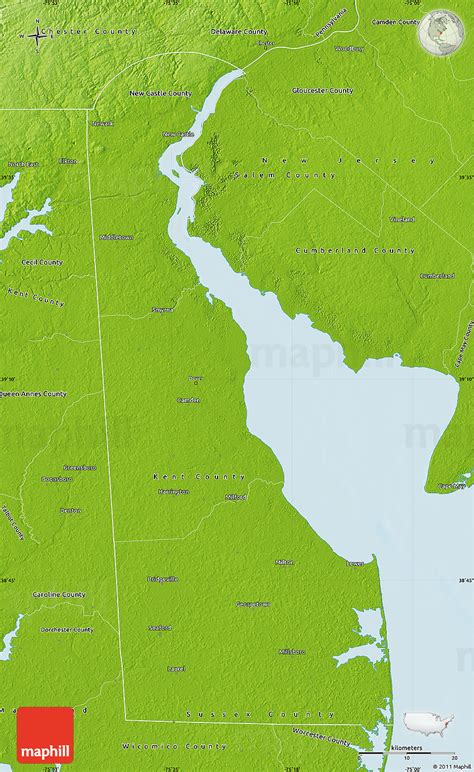Of Delaware Search Physical Map Of Delaware