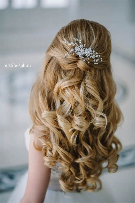 Wedding Hairstyles Curly Hair Half Up Half trubridal wedding 20 awesome half up half