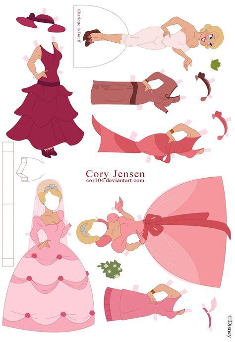 Princess Coloring Pages Paper Princess Printable