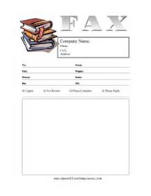 books fax cover sheet openoffice template