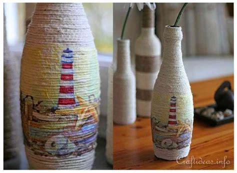 Tali Rami Untuk Kerajinan kreasi membuat pot bunga dari botol bekas dan benang rami