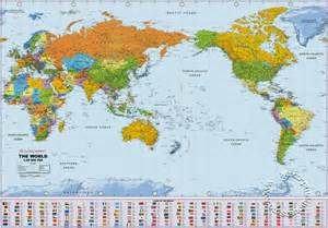world map image pacific centered political world wall map large pacific centered wall map global mapping isbn