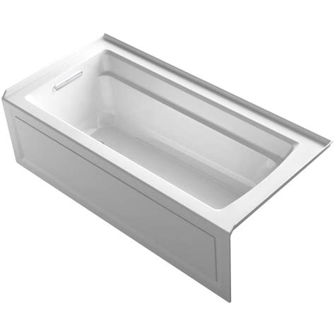 Kohler Acrylic Bathtubs by Shop Kohler Archer 66 In White Acrylic Alcove Bathtub With