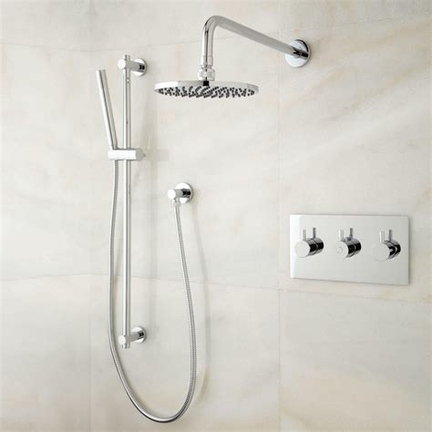 Bathroom Shower Systems Tosca Thermostatic Shower System With Rainfall Shower And Shower Bathroom