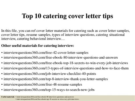 Introduction Letter New Catering Company Top 10 Catering Cover Letter Tips