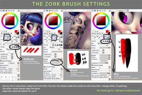 paint tool sai brush settings my sai brush settings by thezork on deviantart