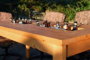 Patio Table With Cooler A Diy Table With Built In Drink Coolers Is The Way To Beat The Heat Photos