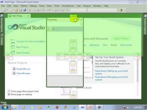 tutorial visual studio 2010 youtube visual studio 2010 tutorial open visual studio youtube