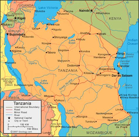 map of tanzania tanzania map and satellite image