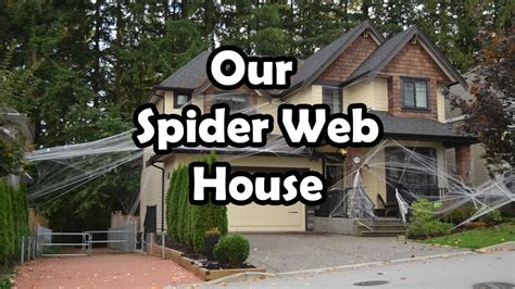 Halloween Spider Web House Decorations Bethany G Youtube