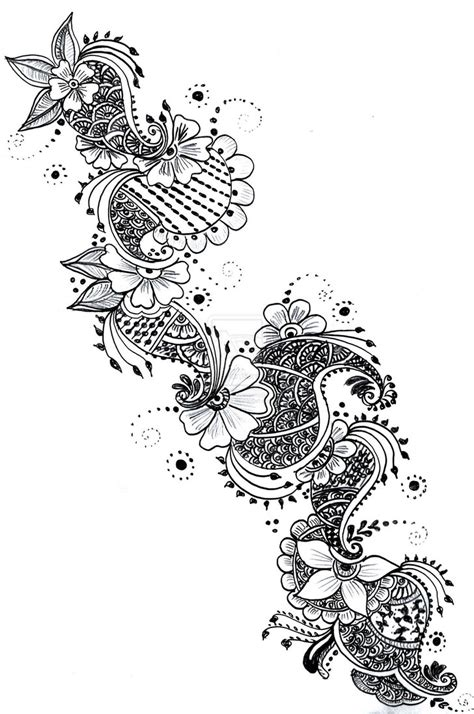 henna tattoo sketches henna paper sketch series 1 by curlykutti on deviantart