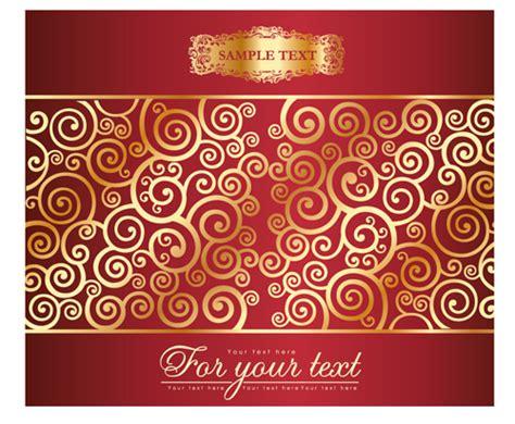 background pattern design eps golden swirls floral pattern background design vector 01