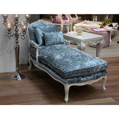 duck egg blue chaise longue duck egg blue crushed velvet chaise longue