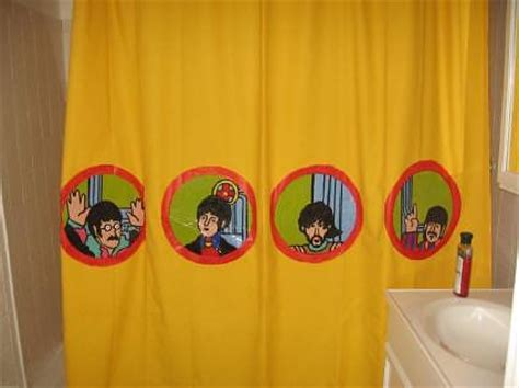 yellow submarine shower curtain we all shower in a yellow submarine localtraders com
