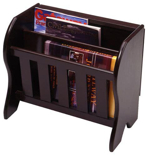 Wooden Magazine Racks by Winsome Wood Magazine Rack W Side Flip Top In