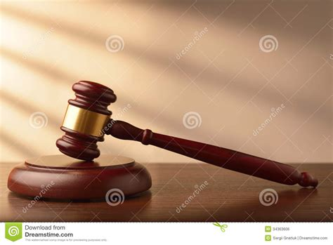 wooden auctioneer  judges gavel royalty  stock image