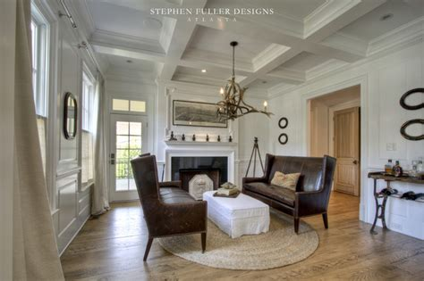 American Living Room Design by A Classic American House In Atlanta Traditional