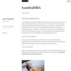 Humbled Mba by Entrepreneurship Pearltrees