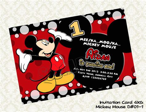 mickey mouse invitation and how to customize it paper trail design