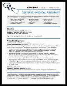 Medical Assistant Resume Cover Letter Easy Sample Resumes For Medical Assistants With No