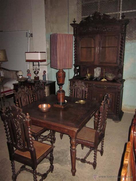 conjunto de comedor antiguo de madera de roble comprar