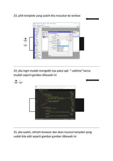 panduan membuat hotspot mikrotik tutorial membuat hotspot mikrotik dan memasang template