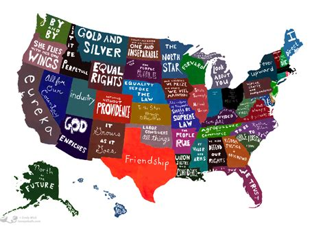 cool usa map strange maps the book brain pickings