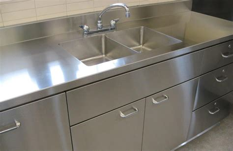 Integrated Stainless Steel Sink And Countertop by Stainless Steel Counter Tops Door Styles Accessories