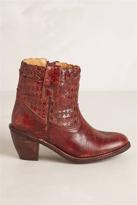 bed stu woven tessie boots in brown brown motif lyst