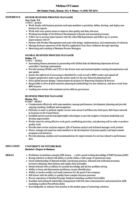 business process manager resume resume ideas