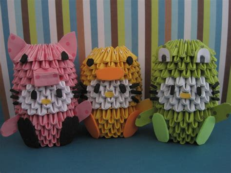 3d Origami Hello - 3d origami hello kitties by silentwolfcreations on deviantart