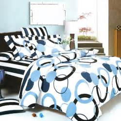 Bedding sets blue striped cottonpiece boys teen queen king bedding