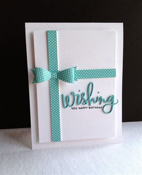 Handmade Cards With Ribbon - 45 best bows images on cards bow