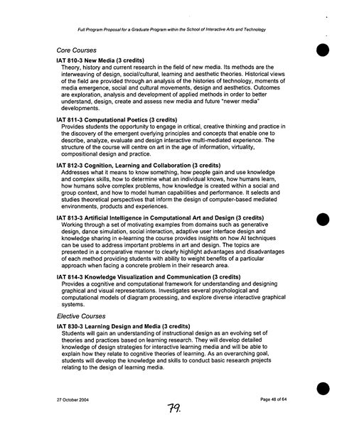 full program proposal for a graduate program within the