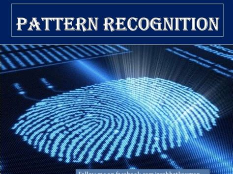 image pattern recognition tutorial pattern recognition