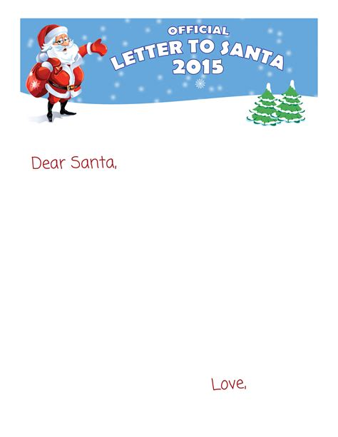 top 15 best blank letters to santa free printable best photos of santa letter template blank blank letter