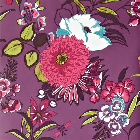 pink wallpaper b q colours cocktail plum floral wallpaper departments diy