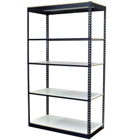 metal shelving unit with drawers storage concepts 84 in h x 48 in w x 12 in d 5 shelf