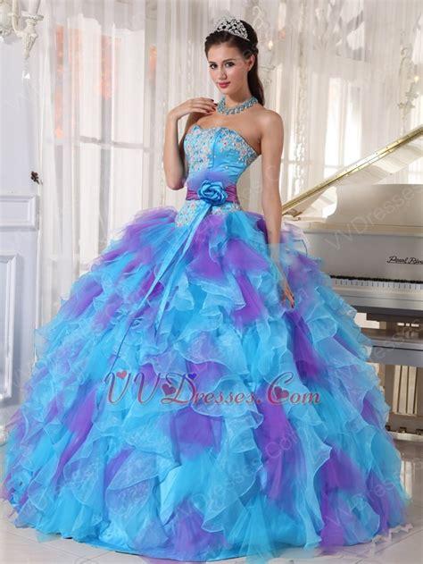 blue and purple quinceanera dresses aqua and purple quinceanera dress with detachable belt