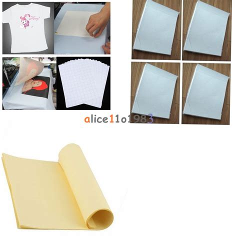 iron on transfer paper printing white 10pcs a4 white yellow iron on heat transfer paper sheet