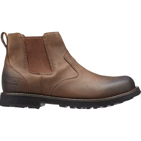 mens leather chelsea boots uk keen mens tyretread chelsea boot peanut comfortable
