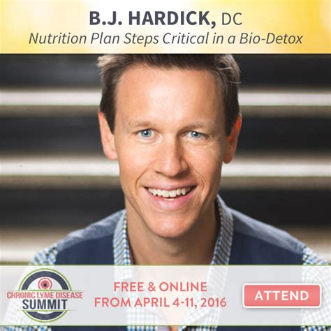Bj Hardick Detox lyme summit speakers what is lyme disease